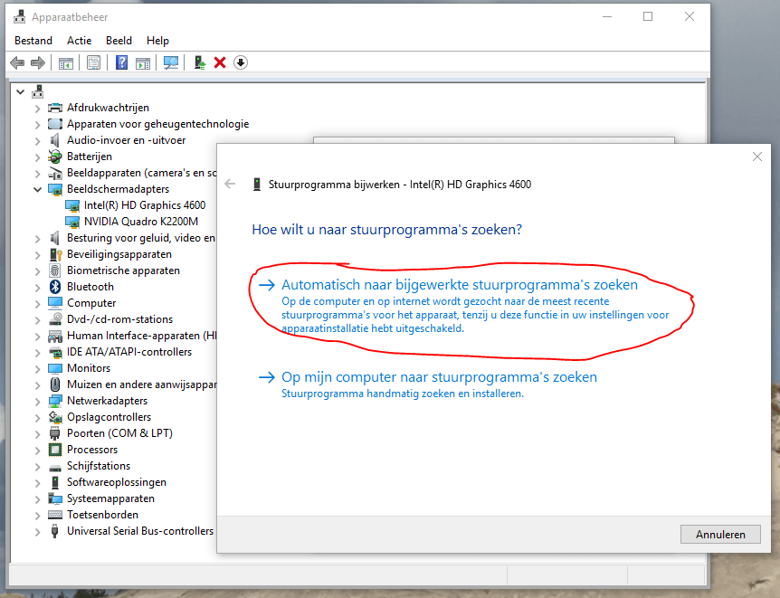 Windows 10 zwart scherm drivers updaten 4