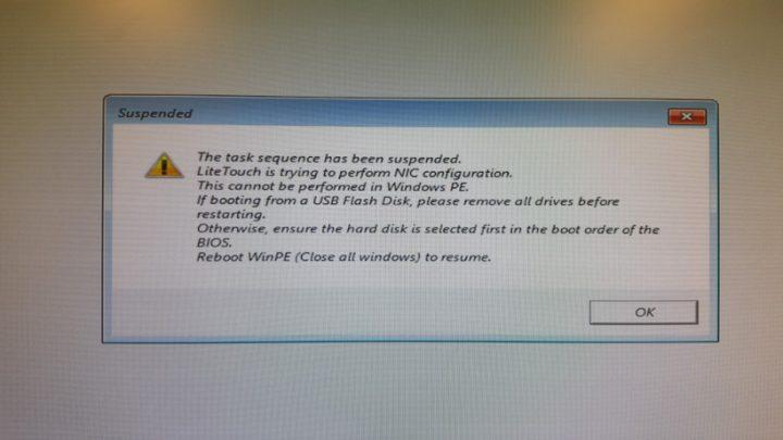 Windows wds litetouch error