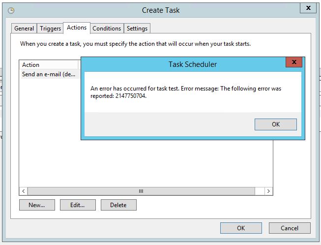 taskscheduler-foutmelding