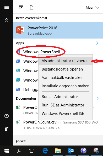 elevated-powershell-opstarten