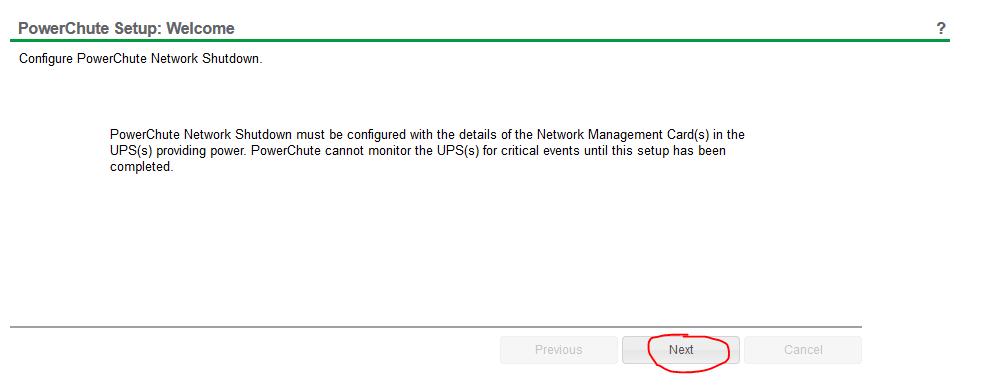 powerchute network shutdown setup 1