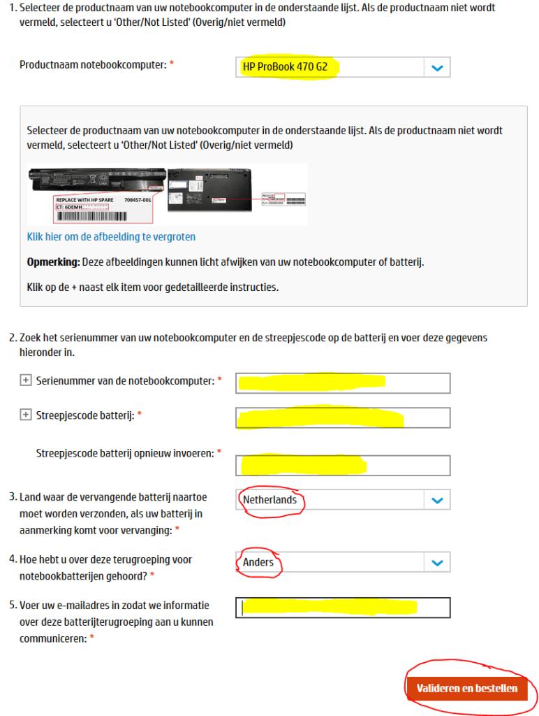 HP batterij terugroep actie 3