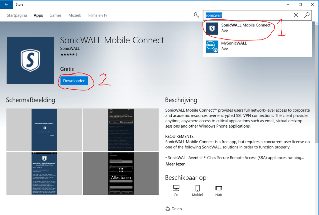 Sonicwall Mobile Connect 2