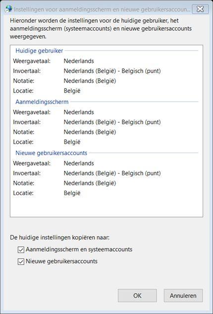 Windows 10 Wifi wachtwoord qwerty ipv azerty 8