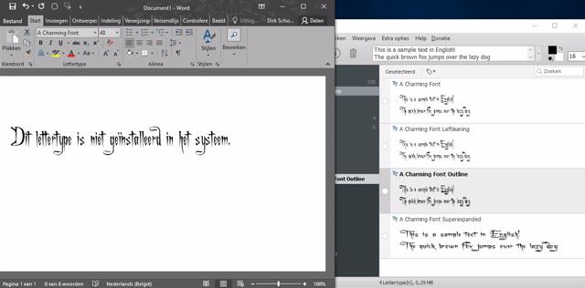 lettertypes beheren in Windows 14