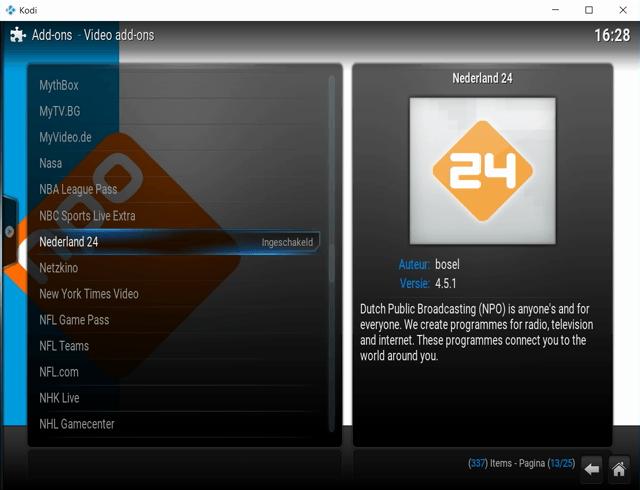 Live TV bekijken met Kodi 7