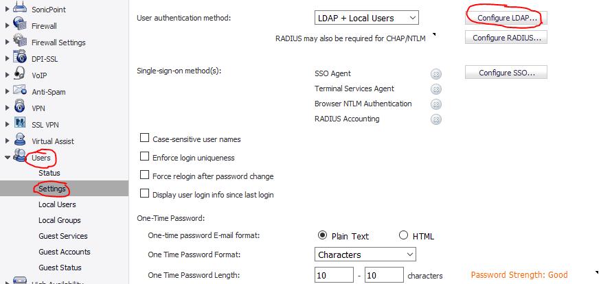 SonicWall password change werkt niet ssl vpn 1