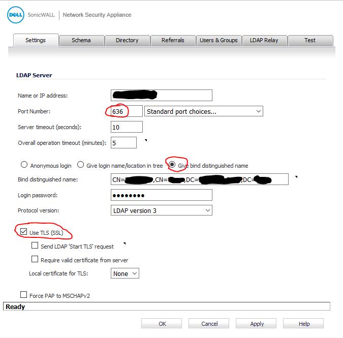 SonicWall password change werkt niet ssl vpn 3