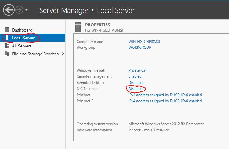 Server 2012 NIC Teaming setup 01