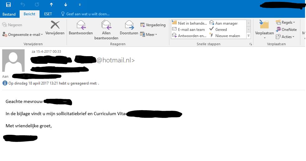 Outlook 2016 en onedrive bijlages 1