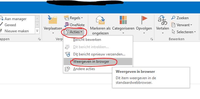 Outlook 2016 en onedrive bijlages 2
