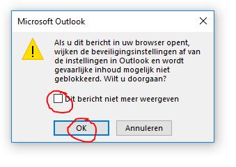 Outlook 2016 en onedrive bijlages 3