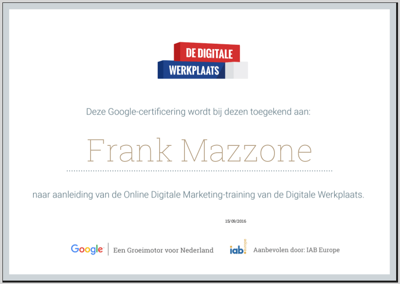 google-online-marketing-certificaat