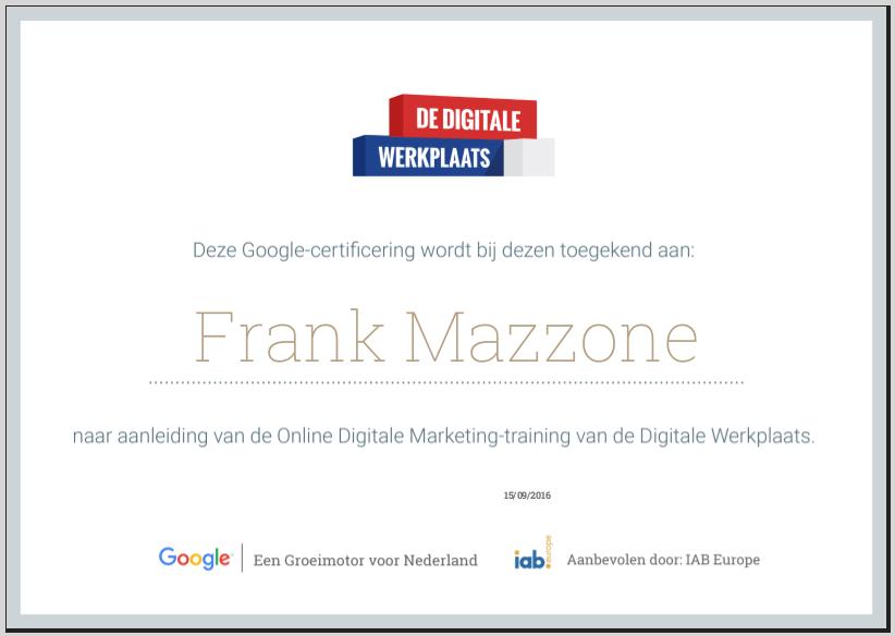 google-online-marketing-certificaat
