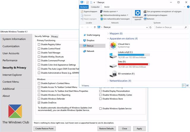 Windows 10 Gebruiksvriendelijker maken zonder irraties 10