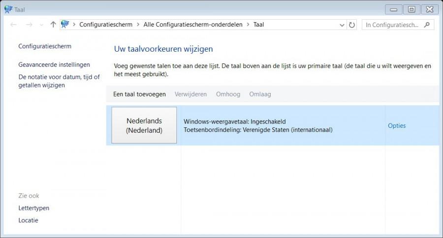 Windows 10 Wifi wachtwoord qwerty ipv azerty 2