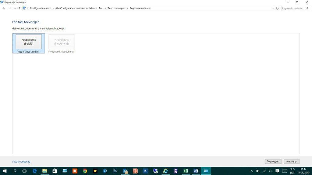 Windows 10 Wifi wachtwoord qwerty ipv azerty 4