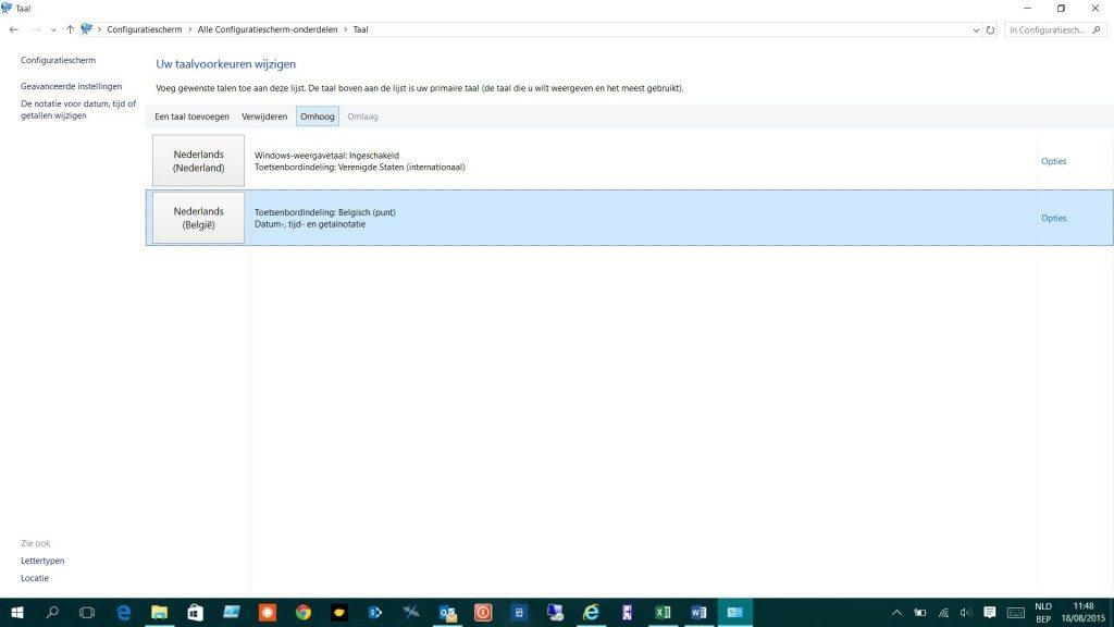 Windows 10 Wifi wachtwoord qwerty ipv azerty 5