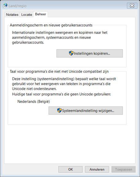 Windows 10 Wifi wachtwoord qwerty ipv azerty 7