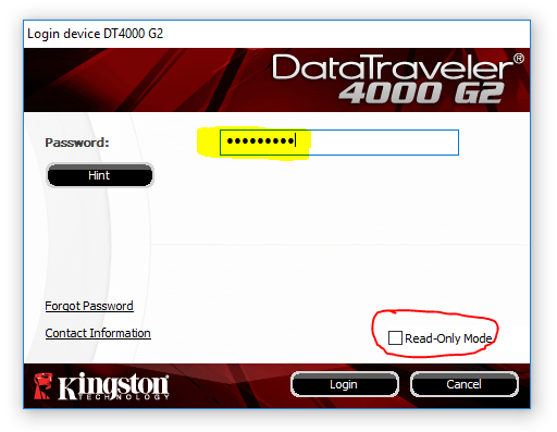 kingston usb stick encryptie instellen 8