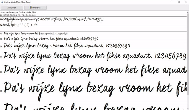 lettertypes beheren in Windows 1