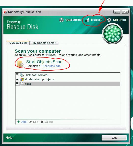 Kaspersky rescue cd gebruiken 10