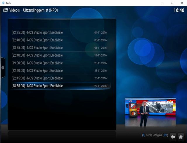 Live TV bekijken met Kodi 8