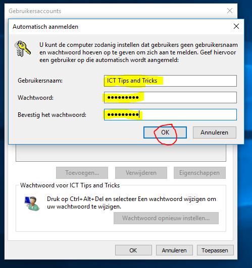 Windows 10 automatisch aanmelden 5