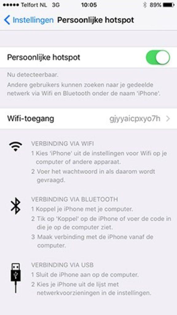 hotspot gebruiken in android en ios 1