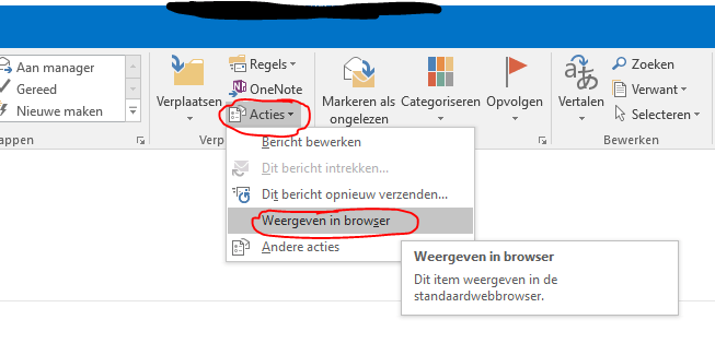 Outlook 2016 en onedrive bijlages 2