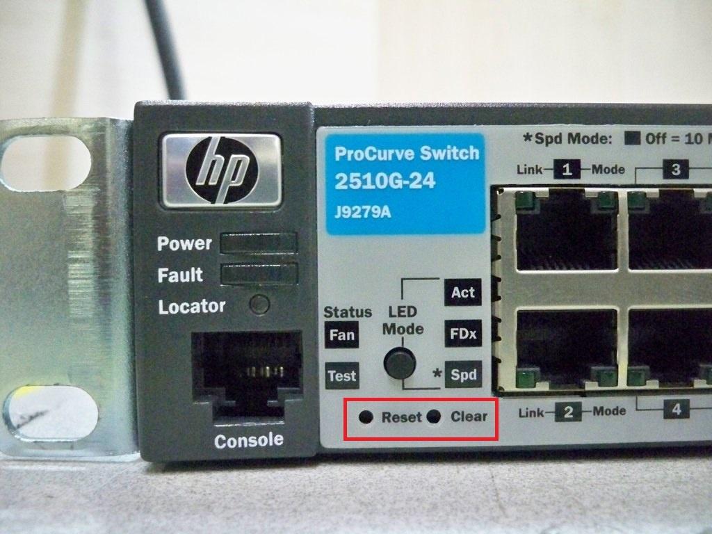 procurve 2510 factory reset 03
