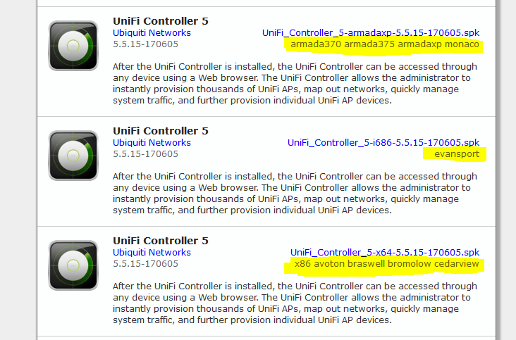 unifi compatibility