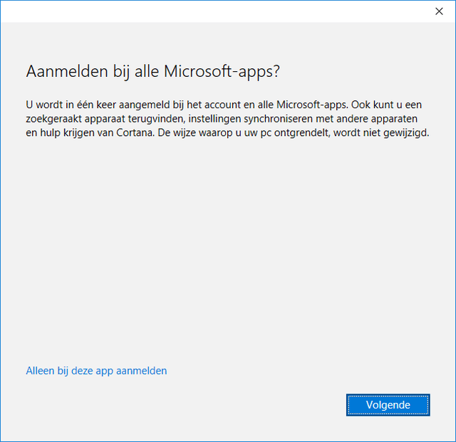 Controle over Windows 10