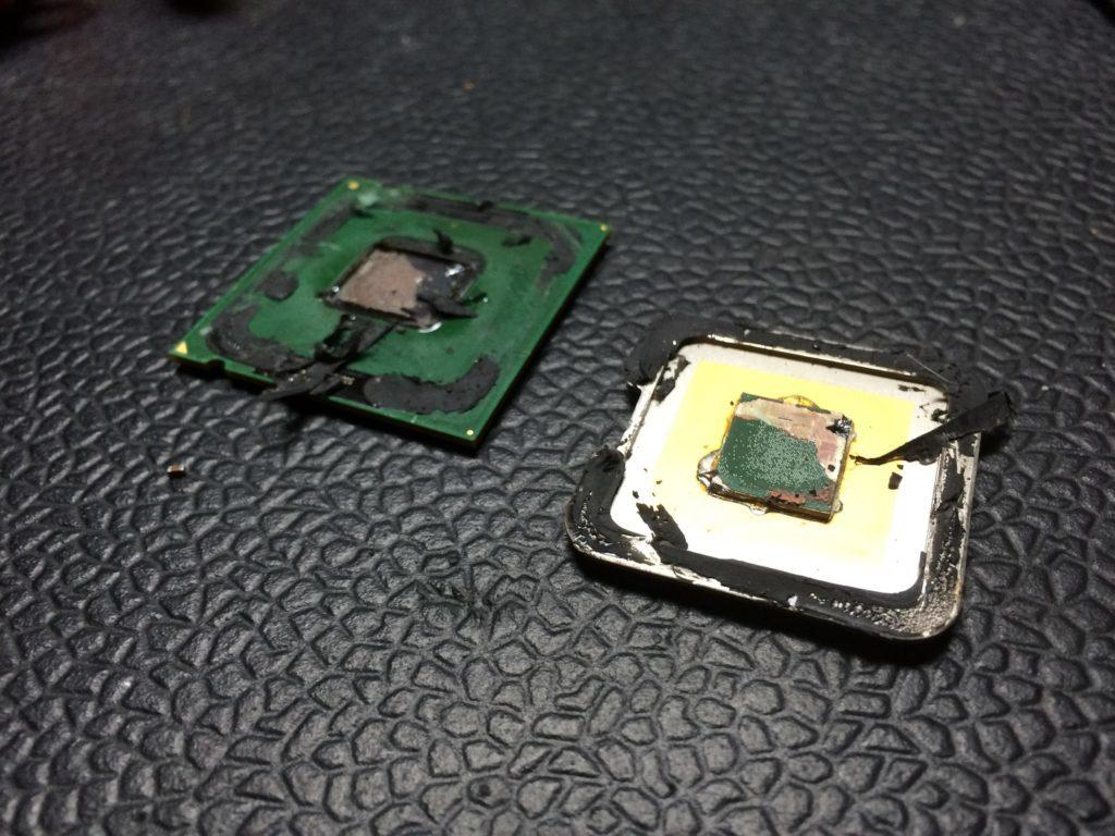 Processor demonteren om deze op te voeren 01