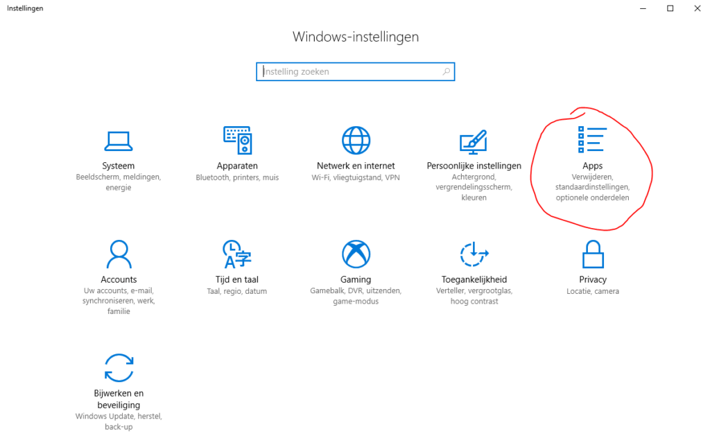 Default browser kiezen Windows 10 01