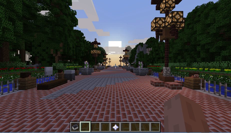 Efteling map in minecraft 02