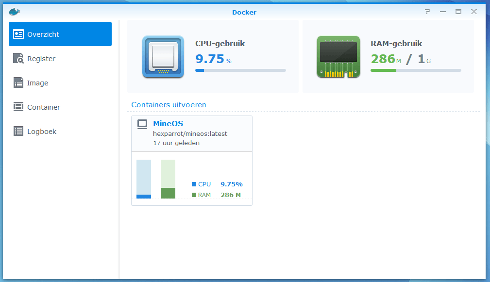 MineOS Installeren op je Synology NAS 03