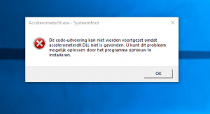 HP Accellerometerdll.dll foutmelding na Windows 10 Fall Update