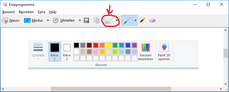 Knipprogramma windows 10 kan geen screenshot meer mailen 00