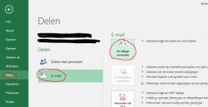 """Bestand verzenden in Excel geeft foutmelding """"Algemene e-mail fout"""""""