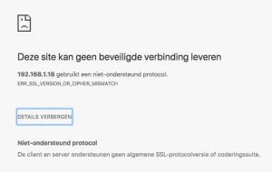 Ubiquiti Controller Synology ERR_SSL_VERSION_OR_CIPHER_MISMATCH