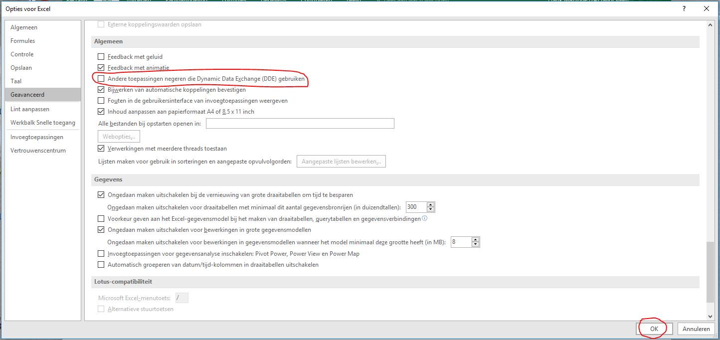 Excel opent met een grijs scherm 05