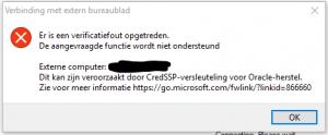 RDP Werkt niet meer na Windows 10 Mei Update