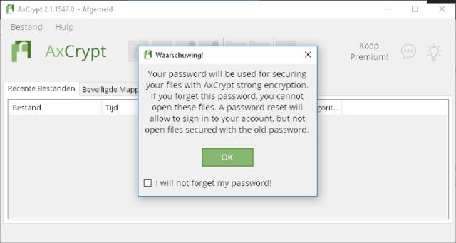 Je bestanden beveiligen met AxCrypt 02