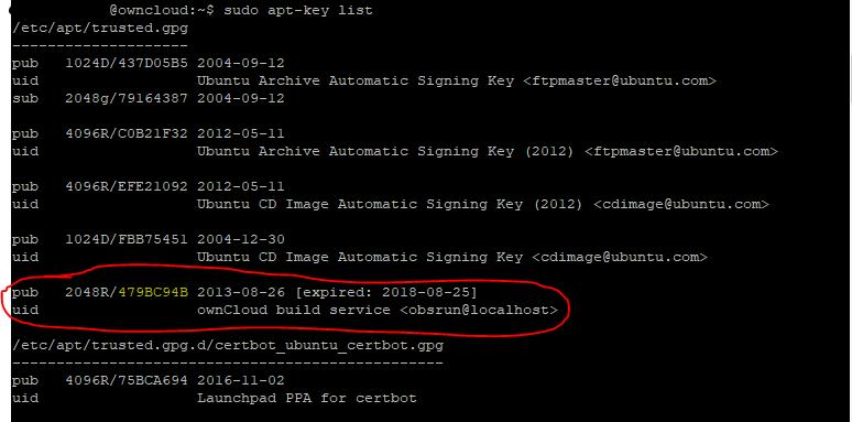 Ubuntu Expired Key vernieuwen met APT 02